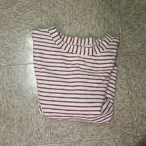 Madewell red and white striped top sz M